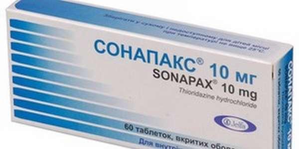 Доза препарата сонапакс