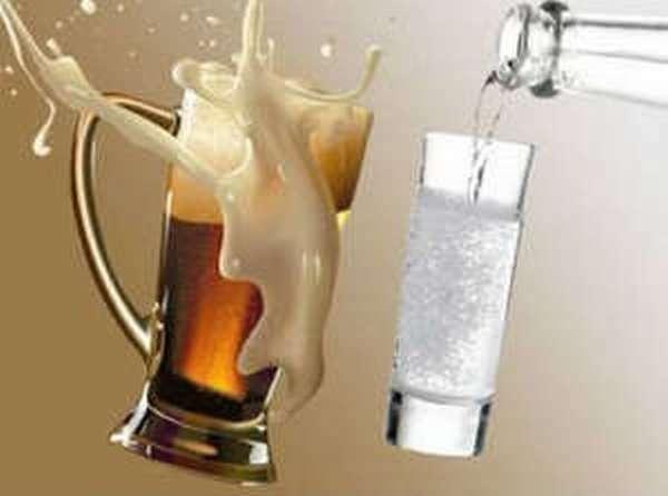 Какие последствия могут вызвать употребления пива и водки