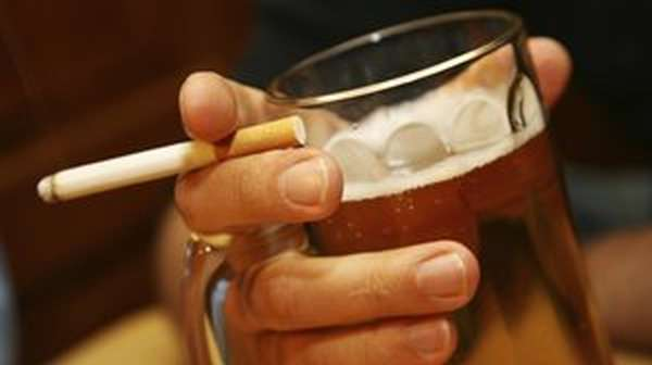 курение и алкоголь - двойной вред