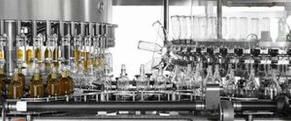 Линия розлива пива на пивоваренном заводе