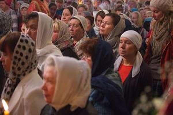 Молебен в церкви о здравии
