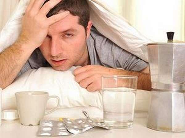 Похмелье или синдром отмены алкоголя