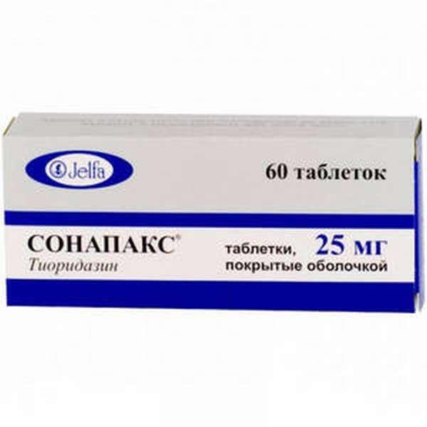 Прием препарата Сонапакс