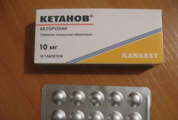 Применение таблеток кетанов