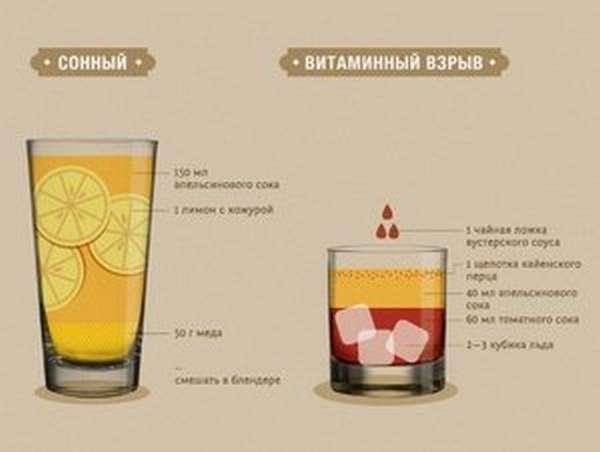 Как принимать напитки