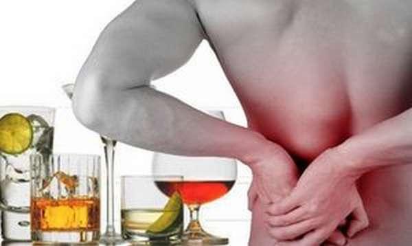 Разрушение почек под действием алкоголя