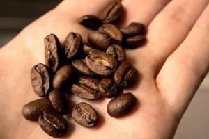 Зерна кофе от перегара