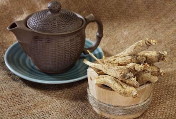 Чай на основе экстракта женьшеня