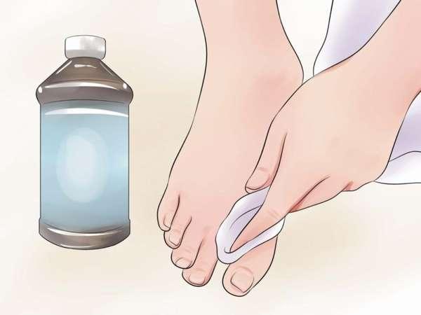 Обработка ноги