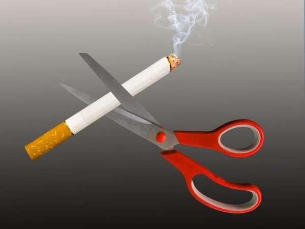 Ножницы против сигареты