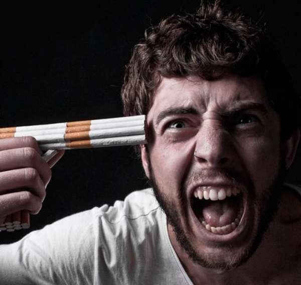 Приставил к голове сигареты