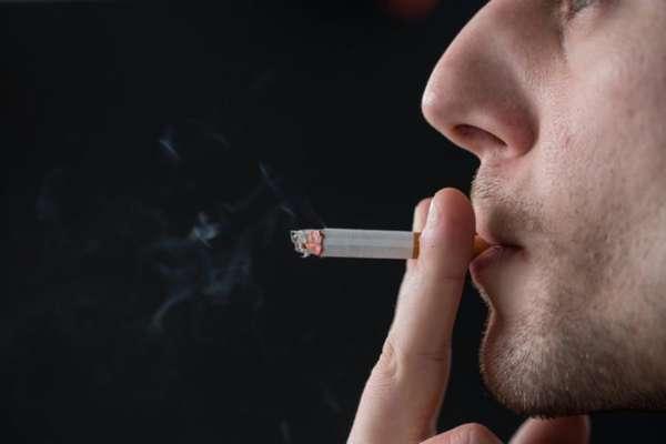 Затяжка сигареты