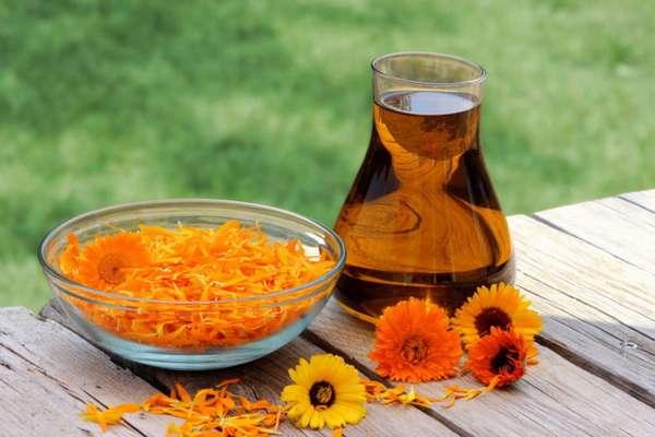 Чай из календулы с цветками