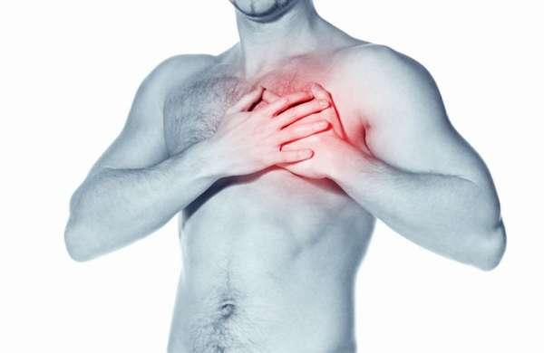 Боль в сердце у мужчины