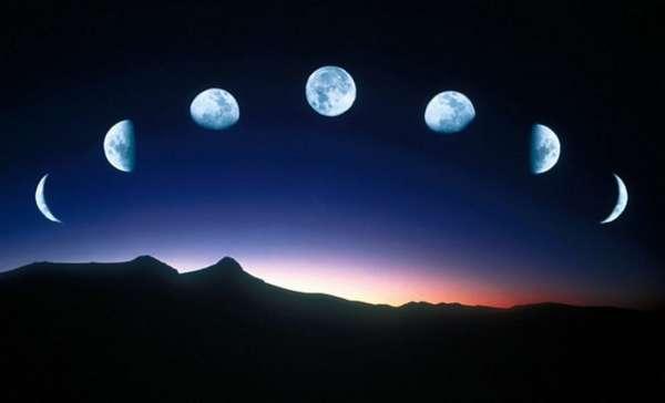 Разные фазы луны