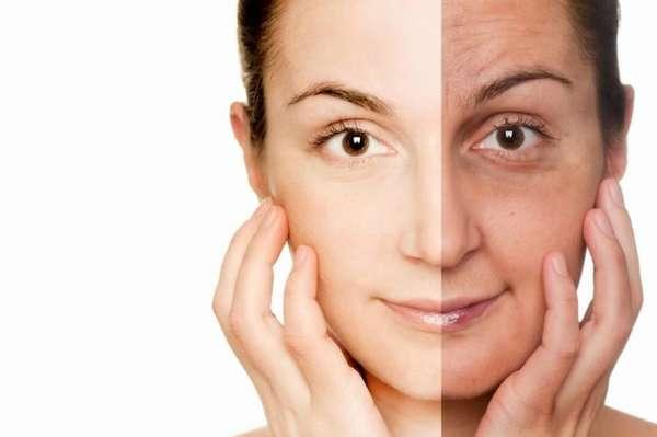 Лицо до и после курения