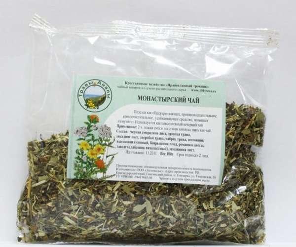 Монастырский чай в упаковке