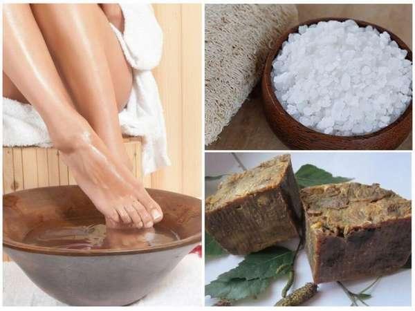 Ванночка для ног с дегтярным мылом