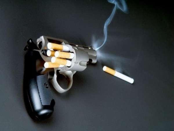 Револьвер заряженный сигаретами