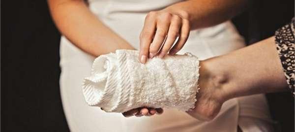 Протирание ног