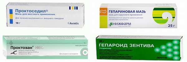 Проктоседил, Гепариновая мазь, Проктозан Нео, Гепароид Зентива
