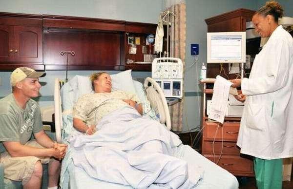 Женщина на сохранении в больнице