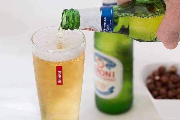Безалкогольное пиво в стакане