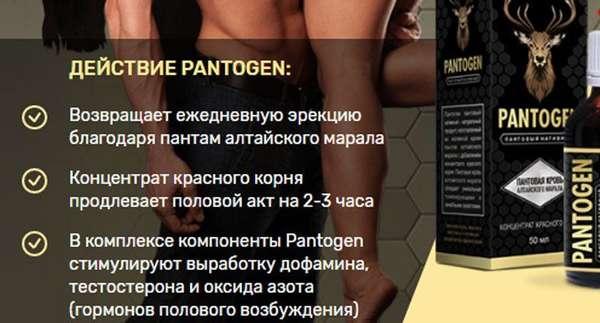 Действие Пантогена