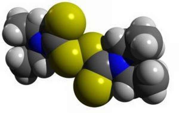 Формула: дисульфирам