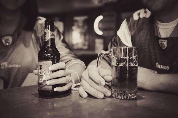 Пьют пиво