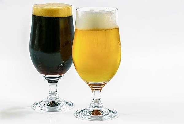 Два бокала пива