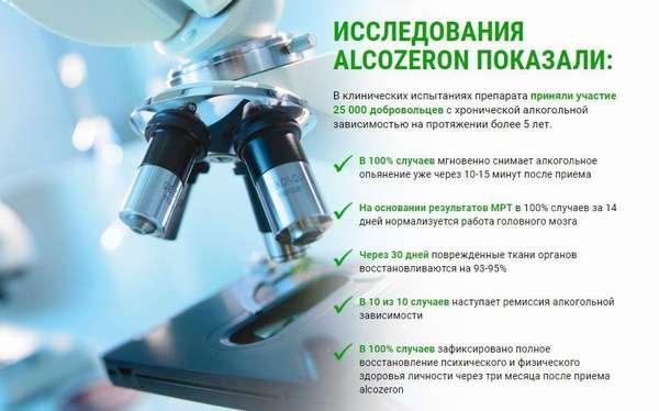 Исследования Alcozeron