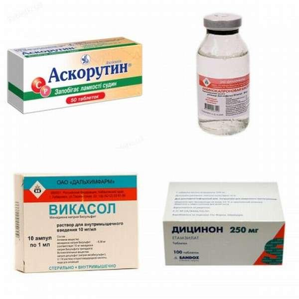 Препараты для остановки крови из носа