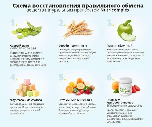Схема восстановления метаболизма