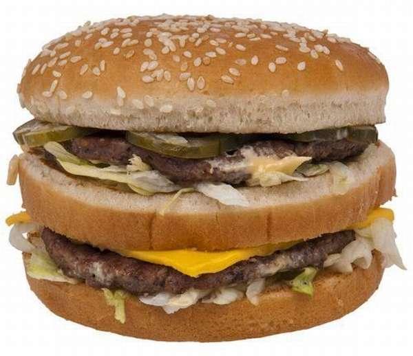 Гамбургер – неправильное питание