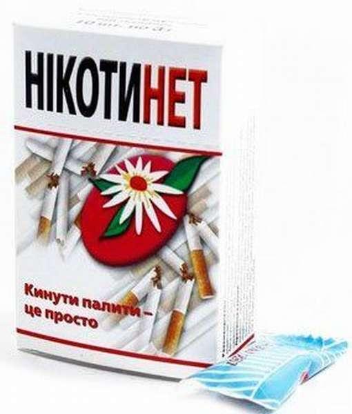 Упаковка и конфета Никотинет