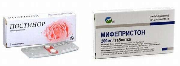 Препараты Постинор и Мифепристон