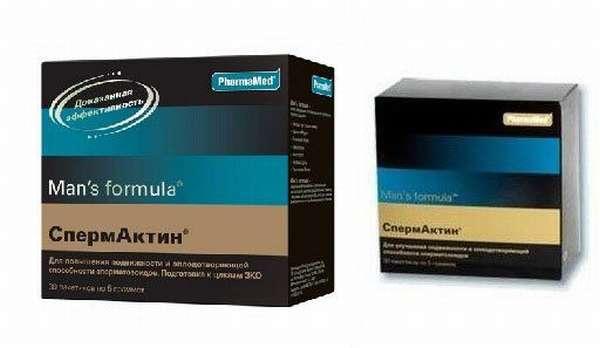 Две упаковки Спермактина