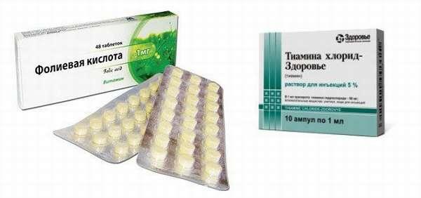 Тиамина Хлорид и фолиевая кислота в таблетках