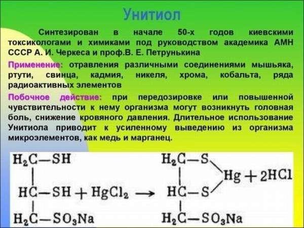 Препарат Унитиол