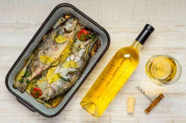 Рыба и белое вино